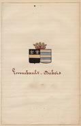 Manuscrit Généalogie Héraldique Errembault Edouard Dubois Thérèse App. Ayasasa Le Vaillant Paternostre Pontus ... - Manuscripts