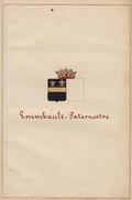 Manuscrit Généalogie Héraldique Errembault Guillaume Paternostre Louise App. Vander Bake Ayasasa Cuvelier Le Vaillant .. - Manuscripts