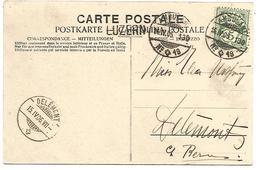 SUISSE AMBULANT N°16 SUR CARTE DU 14/4/1906 - Marcophilie
