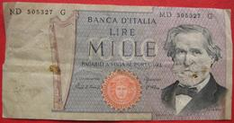 1000 Lire 1969 (WPM 101g) Ausgabe 1980 - [ 2] 1946-… : Repubblica