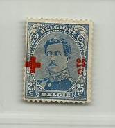 (838) Timbre Belgique Croix-Rouge   N° 156 - 25c + 25c - 1918 Croix-Rouge