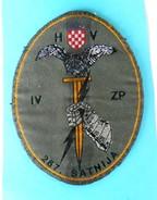 267. SATNIJA (Dubrovnik) Reconnaissance-sabotage ... Croatia Army Patch Croatie Ecusson Kroatien Flicken Croazia Croacia - Patches