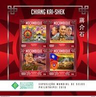 MOZAMBIQUE 2016 - Chiang Kai-shek, W. Churchill. Official Issue