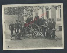 MILITARIA PHOTO ORIGINALE MILITAIRE DE 12X9 PERSONNAGES & CANON & MITRAILLEUSE À SITUER : - Guerra, Militari