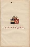 Manuscrit Généalogie Héraldique Errembault Le Cappelier  App.Formanoir Desmons De Bachy D'Hovynes Godebrie ... - Manuscrits