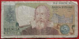 2000 Lire 1973 (WPM 103b) - Ausgabe 1976 - [ 2] 1946-… : Républic