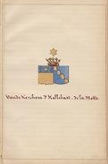 Manuscrit Généalogie Héraldique Vande Kerchove D'Hallebast De La Motte Baraffe De Formanoir De La Cazerie  Deffrasnes .. - Manuscrits