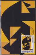 Yugoslavia 1986 Art - Victor Vasarely, CM (Carte Maximum) Michel 2203 - Cartes-maximum