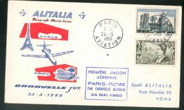 1ère Liaison Aérienne Paris - Rome Par Caravelle Alitalia - Other