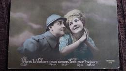 CPA APRES LA VICTOIRE NOUS SERONS UNIS POUR TOUJOURS SOLDATS FRANCAIS POILU GUERRE 14 ? 1918 PATRIOTIQUE PATRIOTIC 1179 - Patriotic