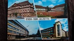CPSM ESCH SUR ALZETTE LUXEMBOURG MULTI VUES HOTEL DE VILLE LYCEE ECOLE - Esch-Alzette