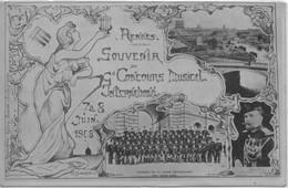 CPA Rennes - Souvenir Du Concours International De Musique 1908 - Rennes