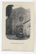 32 - MIRADOUX - L'Eglise Et Le Café Animé - - Francia