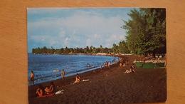 LA PLAGE DE TAAONE A 1 KM. DE LA VILLE - Carte Postale Neuve Années 70 - Très Bon état - Dos Partagé - Polynésie Française
