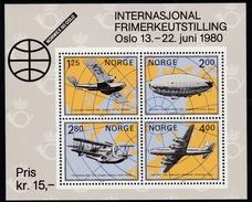 1979,  Norwegen, 799/01 Block 2, 100 Jahre Posthornmarken, MNH **,