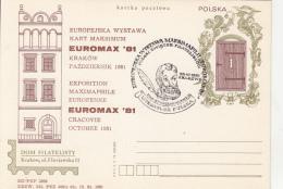 55308- KRAKOW PHILATELIC EXHIBITION, POSTCARD STATIONERY, 1981, POLAND - Ganzsachen