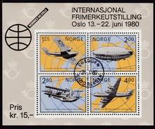 1979,  Norwegen, 799/01 Block 2, 100 Jahre Posthornmarken, Gestempelt Oo,