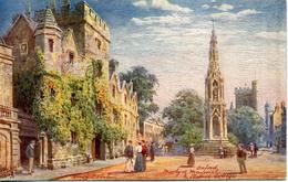 TUCKS OILETTE - HENRY WIMBUSH 7644 - PICTURESQUE OXFORDSHIRE SERIES II - MARTYR'S MEMORIAL AND BALLIOL COLLEGE - Wimbush