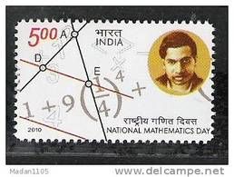 INDIA, 2012, National Mathematics Day,  Ramanujan,  MNH, (**)