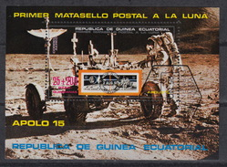 EQUATORIAL GUINEA : Michel Block 1 – Used – Apollo 15 To The Moon – (1972) - Guinée Equatoriale