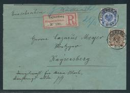 Eingeschriebene Ortsdrucksache Mit MiNr. 45 Und 48 Innerhalb KAYSERBERG Vom 25 11 95 5-6 N. Umschlagsklappe Fehlt, - Briefe U. Dokumente