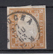 ITALIË - Michel - 1855/63 - SARDINIË - Nr 11a - Gest/Obl/Us - Sardaigne