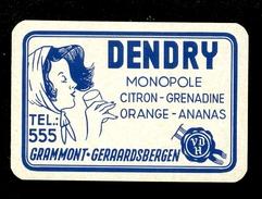 Speelkaart ( 0190 ) 1 Losse Kaart - Publicité Reclame  Limonade DENDRY  Grammont  Geraardsbergen - Cartes à Jouer Classiques