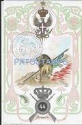 65627 ITALY ART ARTE PATRIOTIC MILITARY CAMPAIGN AFRICA 1866 HERALDRY & FLAG POSTAL POSTCARD - Non Classés