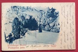 POSTOJNA POSTUMIA ADELSBERG  GROTTE  BELVEDERE PER VENEZIA CON ANNULLO AMBULANTE WIEN - TRIEST N.9 IL 10/9/99 - Slovenia