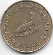 Macedonia 2 Dinars  1993 Km 3 - Macédoine