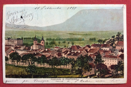 POSTOJNA POSTUMIA  GRUSS AUS ADELSBERG  3+2 Heller PER VENEZIA CON ANNULLO AMBULANTE WIEN - TRIEST N.9 IL 10/9/99 - Slovenia