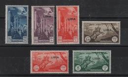 Libia 1940-41 Posta Aerea Serie Cpl MNH - Libia