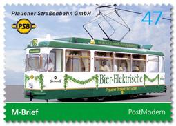 Privatpost Sachsen Plauener Strassenbahn Bier - Elektrisch   ** / MNH - Trains