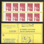 Carnet Marianne De Luquet 3419 C3 Découpe Décalée  Livraison Gratuite - Freimarke