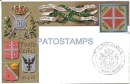 65639 ITALY ART ARTE PATRIOTIC HERALDRY MILITARY 67º REGIMENT INFANTRY POSTAL POSTCARD - Non Classés