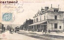 MONTBARD LA GARE DU P.L.M. 21 COTE-D'OR - Montbard
