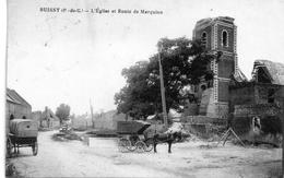 -A2-  62 BUISSY - L'Eglise Et Route De Marquion     Postee - Francia