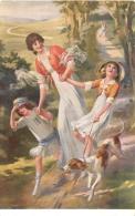 SALON DE PARIS   A.   RENAULT   DESCENTE RAPIDE   LUXOCHROMIE - Peintures & Tableaux