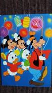 CPSM WALT DISNEY PLUTO MICKEY RIRI FIFFI FETE LAMPIONS - Autres