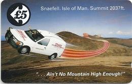 Isle Of Man - DHL Van - 15IOMA - 1992, 2.970ex, Used