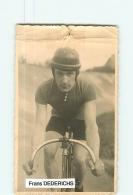 Frans DEDERICHS , Stayer Allemand 1929 -  En L' état - Lire Descriptif  - CYCLISME - 2 Scans - Cycling