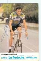 Christian JOURDAN , Autographe Manuscrit - Equipe LA REDOUTE -   En L' état - Lire Descriptif  - CYCLISME - 2 Scans - Cycling