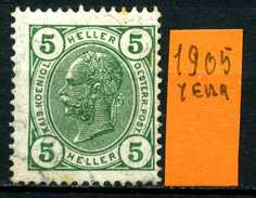 AUSTRIA - OSTERREICH - Year 1905 -  5 Heller - ( Michel N° 122 ) - Usato - Used. - Usados