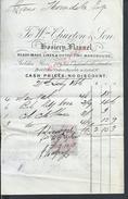 FACTURE DE 1876 SUR VIEUX TIMBRE CHURTONS SHIRT MAKERS À LONDON ROYAUME UNI : - Royaume-Uni
