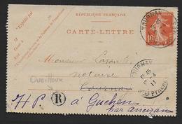 Hautes Pyrénées - Cachet  TOURNAY  + Boite Rurale  R  De Oueilloux - Postmark Collection (Covers)