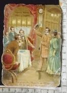 Chromo Decoupis Chocolat Poulain Fin 19e Siècle/ Jules Verne Le Tour Du Monde En 80 Jours /n°12 / Retour Heure Juste - Poulain