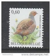 TIMBRE NEUF DE BELGIQUE - OISEAU DE BUZIN : PERDRIX GRISE N° Y&T 3365