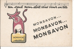 Buvard Monsavon Au Lait. (Vache) - Parfums & Beauté