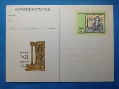 1983 ITALIA CARTOLINA POSTALE NUOVA NEW MNH** MESSINA MANIFESTAZIONE FILATELICA PELORO - Entiers Postaux