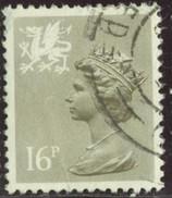 GB Yv. N°1084 - 16p Brun-gris Clair Pays De Galle - Oblitéré - Machin-Ausgaben